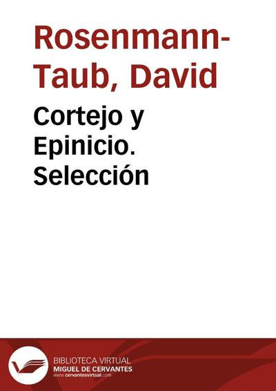 Cortejo y Epinicio. Selección