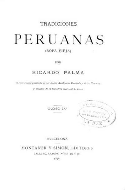 Tradiciones peruanas. Séptima serie
