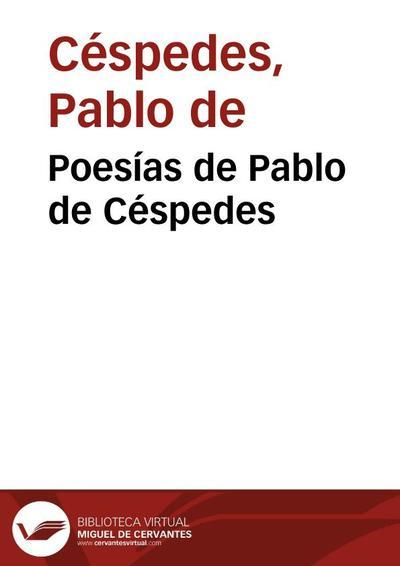 Poesías de Pablo de Céspedes