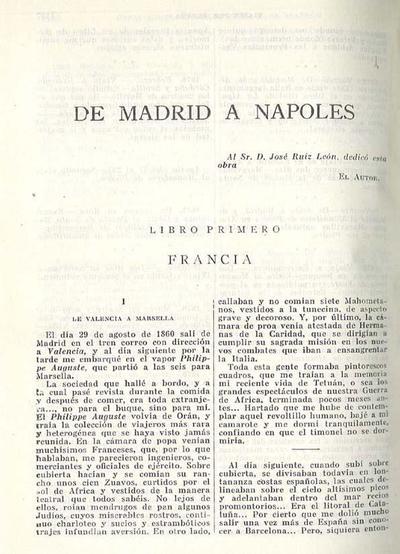 De Madrid a Napolés