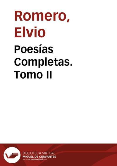Poesías Completas. Tomo II