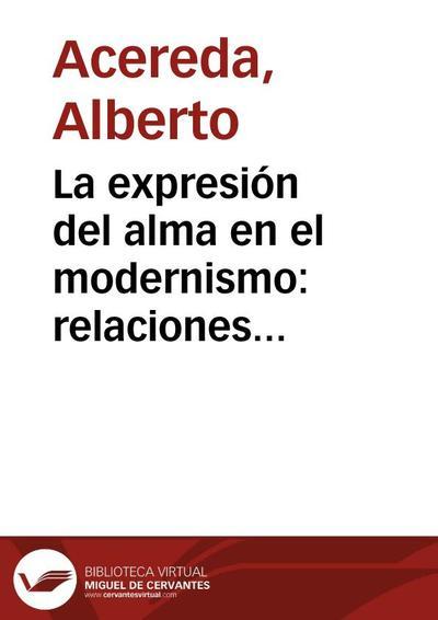 """La expresión del alma en el modernismo: relaciones contextuales entre la """"Sonatina"""" de Rubén Darío y algunos escritos de Amado Nervo"""