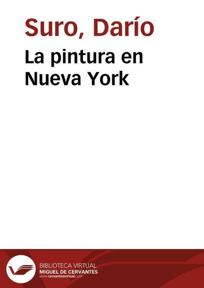 La pintura en Nueva York