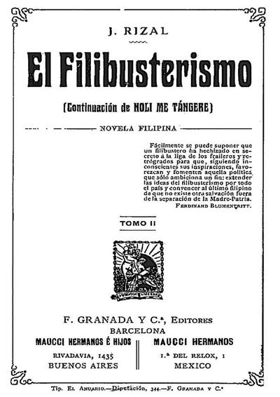 El filibusterismo : (continuación del Noli me tángere), novela filipina. Tomo II