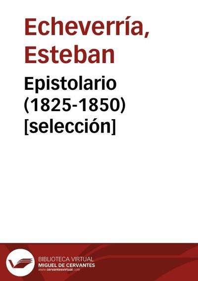 Epistolario (1825-1850) [selección]