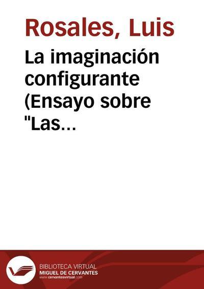 """La imaginación configurante (Ensayo sobre """"Las Soledades"""", de don Luis de Góngora)"""