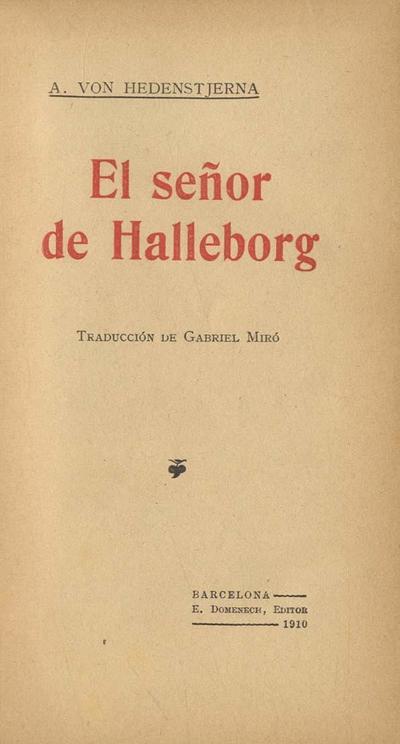 El señor de Halleborg