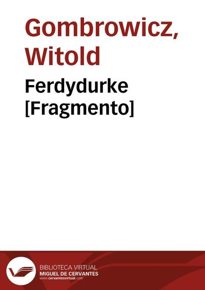 Ferdydurke [Fragmento]