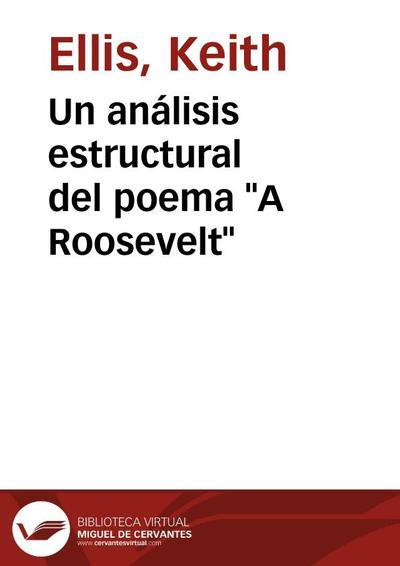 "Un análisis estructural del poema ""A Roosevelt"""
