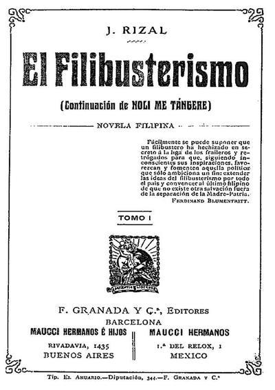El filibusterismo : (continuación del Noli me tángere), novela filipina. Tomo I