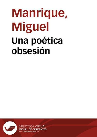 Una poética obsesión