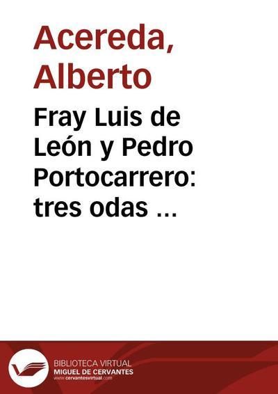 Fray Luis de León y Pedro Portocarrero: tres odas del agustino al Obispo de Calahorra