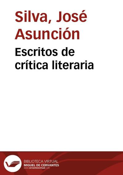 Escritos de crítica literaria