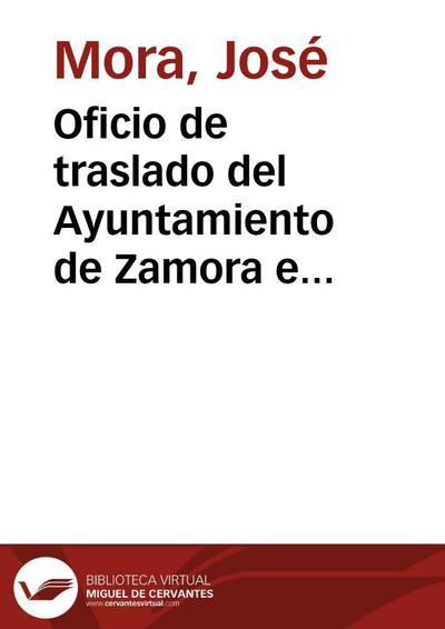 Oficio de traslado del Ayuntamiento de Zamora e informe del arquitecto, en relación a un desprendimiento de piedras en uno de los torreones laterales del arco de Doña Urraca y de las medidas adoptadas. La Comisión de...