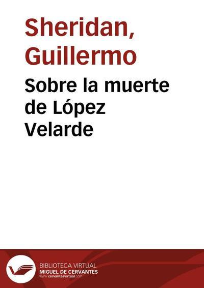 Sobre la muerte de López Velarde