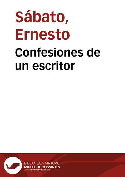 Confesiones de un escritor