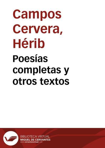 Poesías completas y otros textos