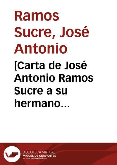 [Carta de José Antonio Ramos Sucre a su hermano Lorenzo Ramos. Caracas 20 de marzo de 1929]