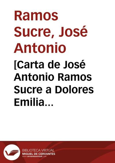 [Carta de José Antonio Ramos Sucre a Dolores Emilia Madriz. Ginebra 7 de junio]