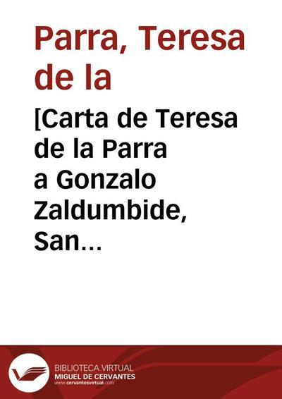 [Carta de Teresa de la Parra a Gonzalo Zaldumbide, San Juan de la Luz, agosto 1924]