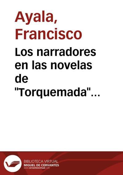 """Los narradores en las novelas de """"Torquemada"""" (Homenaje a Casalduero)"""