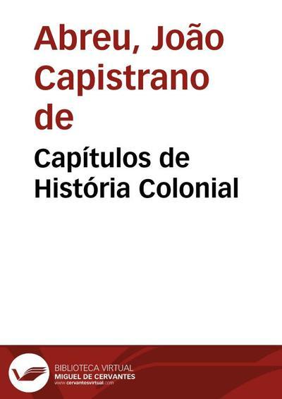 Capítulos de História Colonial