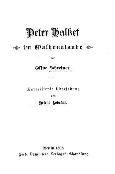 Peter Halket im Mashonalande