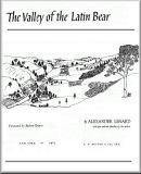 The valley of the Latin bear; Valley of the Latin bear