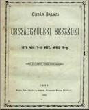 Orbán Balázs országgyűlési beszédei 1871. november 7-től 1872. ápril 16-ig: