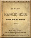 Orbán Balázs országgyűlési beszédei 1872. nov. 29-től 1875. május 15-ig: 2. füzet