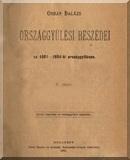 Orbán Balázs országgyűlési beszédei az 1881-1884-ki országgyűlésen: 5. füzet
