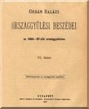 Orbán Balázs országgyűlési beszédei az 1884-1887-diki országgyűlésen: 6. füzet
