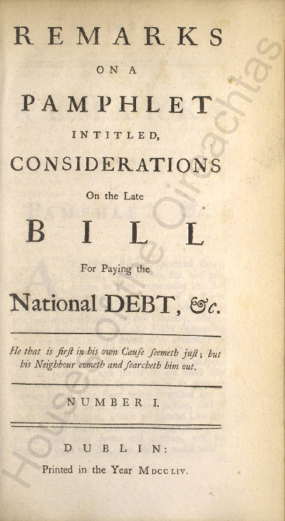 Remarks on a pamphlet intitled, Considerations on the late bill for paying national debt, &c. Pamphlets
