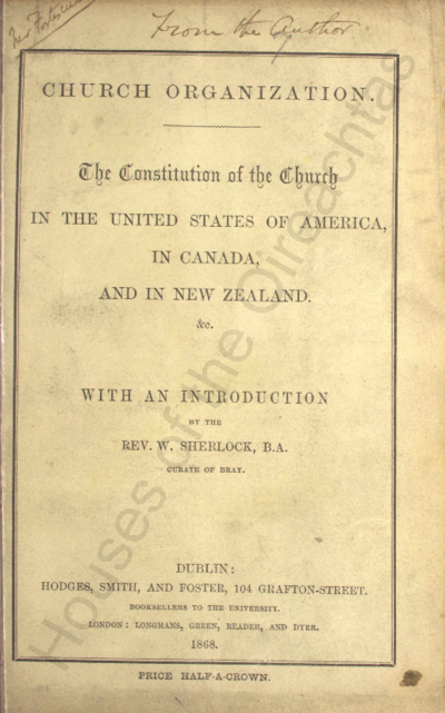 Image from object titled Church organization : the constitution of the church in the United States of America, in Canada, and in New Zealand  Pamphlets