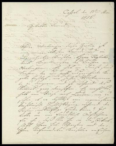Brief von Louis Spohr an Charles Edward Horsley