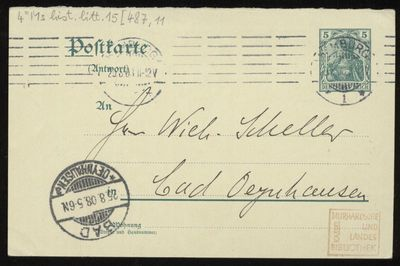 Brief von Gustav Falke an Will Scheller