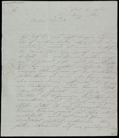 Brief von Louis Spohr an Adolf Friedrich Hesse
