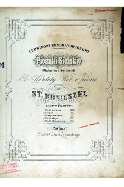 Piosnki Sielskie Władysława Syrokomli (Z Kantaty: Rok w pieśni). Poszyt pierwszy nr 5, Pieśń wieczorna
