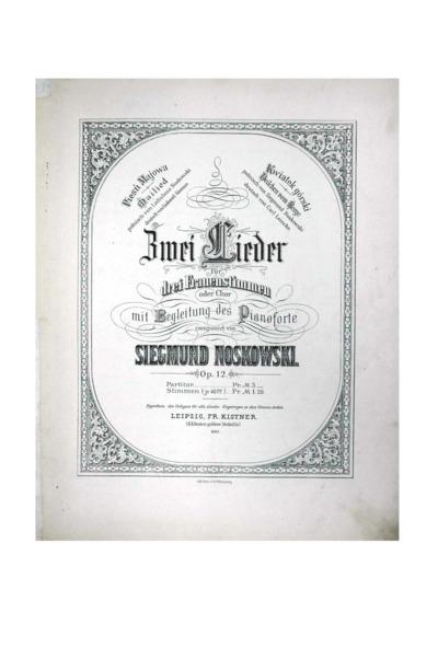 Lieder : für Frauenstimmen oder Chor : mit Begleitung des Pianoforte : Op. 12