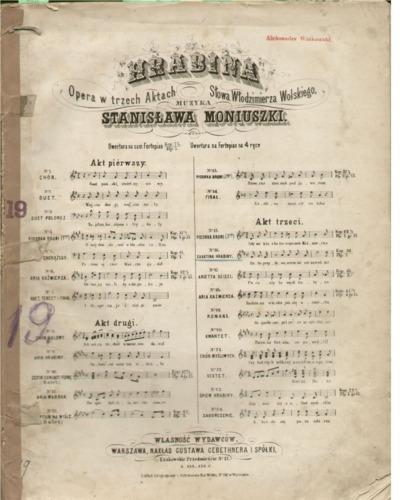 Hrabina : Opera w trzech aktach : Akt trzeci. No 16, Cavatina Hrabiny
