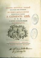 Ioannis Baptiste Passeri ... De tribus vasculis etruscis ... dissertatio