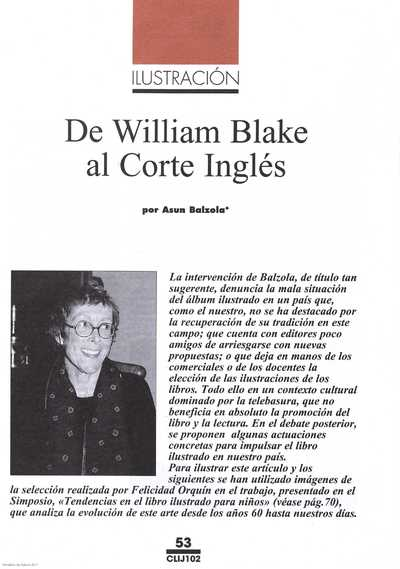 De William Blake al Corte Inglés