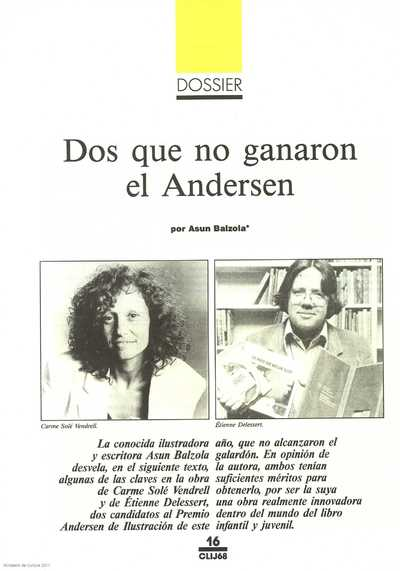 Dos que no ganaron el Andersen : en dossier: Premios Andersen