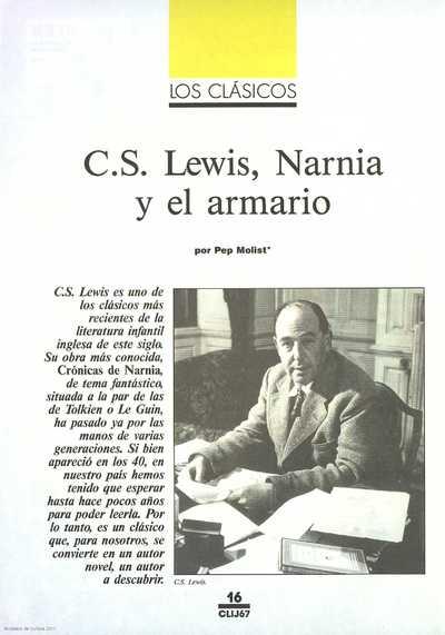 C. S. Lewis, Narnia y el armario