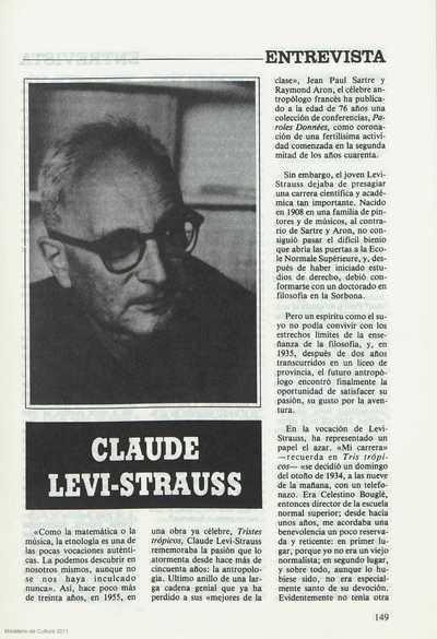 Claude Levi-Strauss : entrevistas