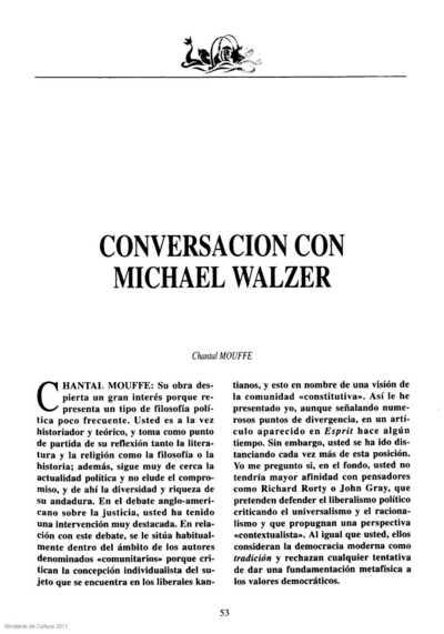 Conversación con Michael Walzer