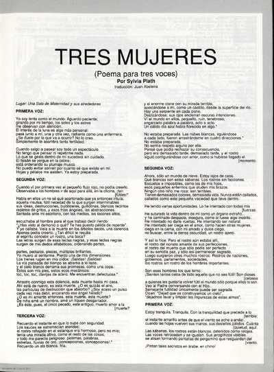 Tres mujeres : (poema para tres voces)