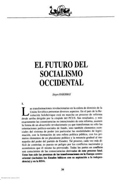 El futuro del socialismo occidental