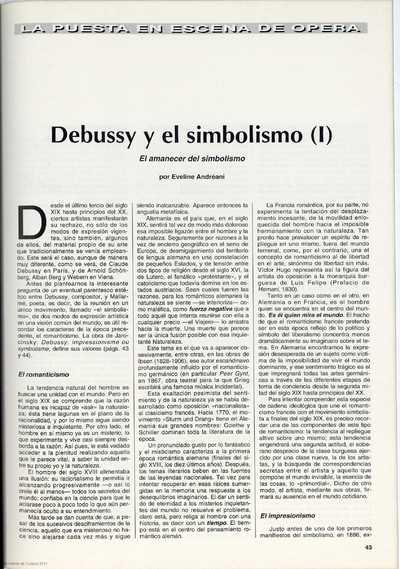 Debussy y el simbolismo (I) : el amanecer del simbolismo