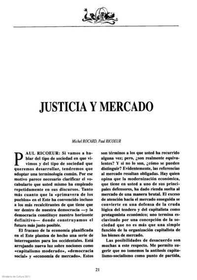 Justicia y mercado